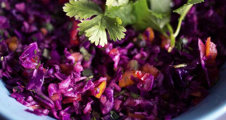 Salade de chou rouge à la lime